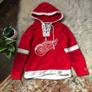 Old Time Hockey Detroit Red Wings Lacer Hoodie